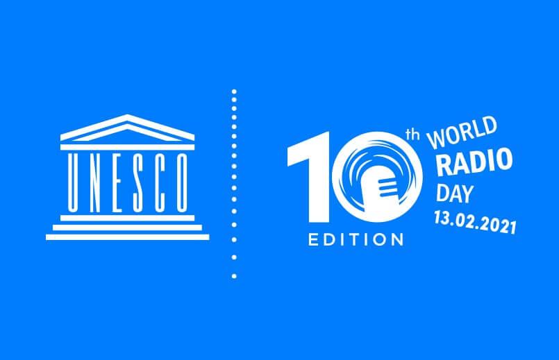 UNESCO World Radio Day Feb. 13 logos