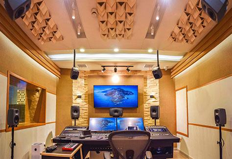 XD studio with Genelec monitors