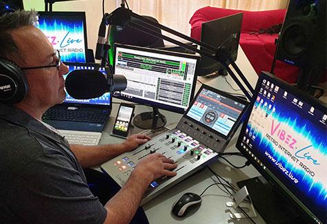 Calrec Type R for Radio at Vibez.Live