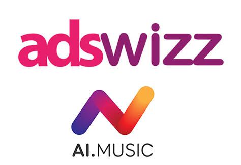 AdsWizz and AI Music logos