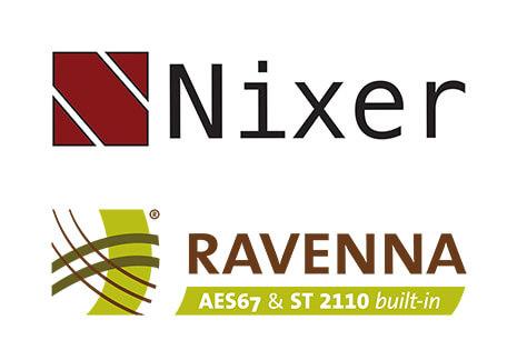 Nixer and Ravenna logos