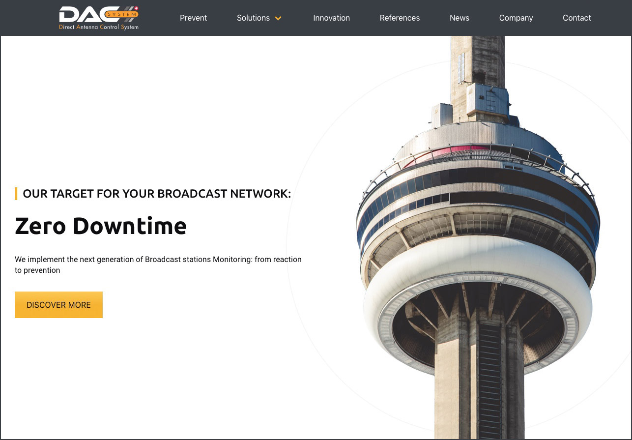 DAC System homepage