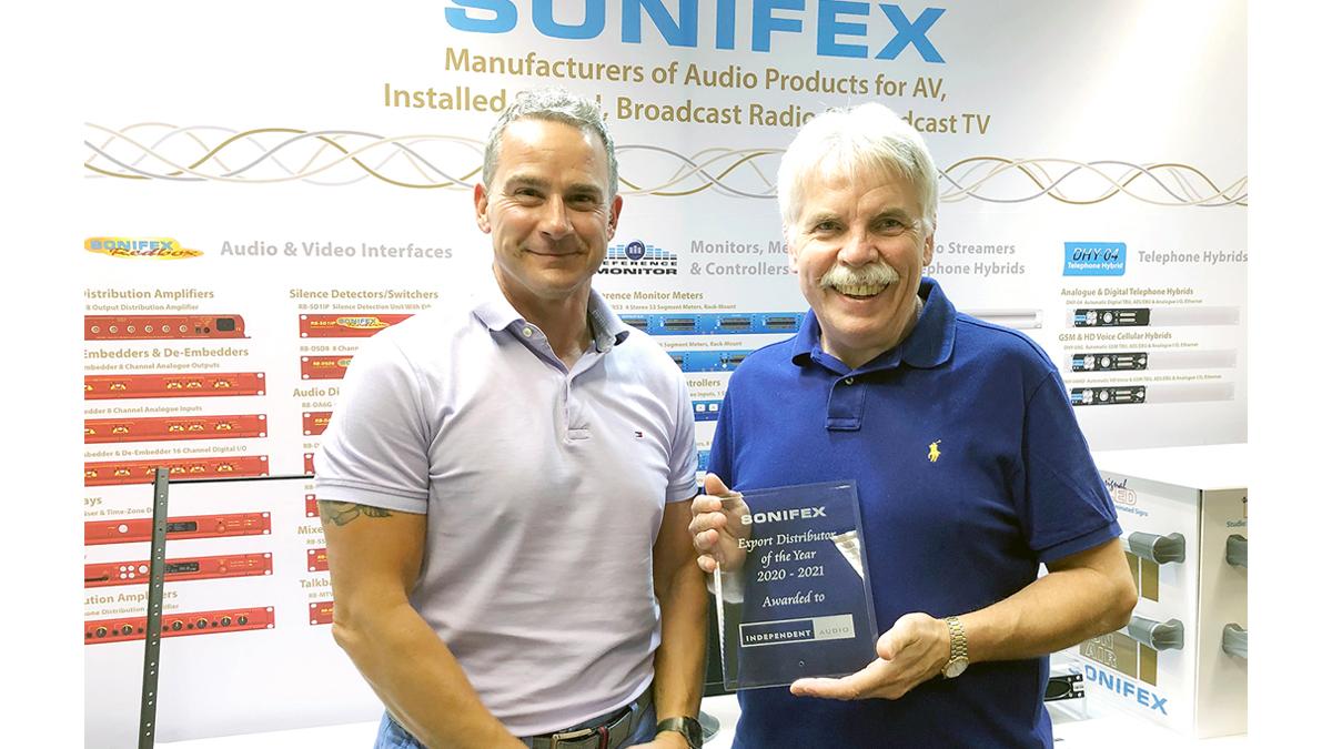 Sonifex Export Distributer Award 20-21