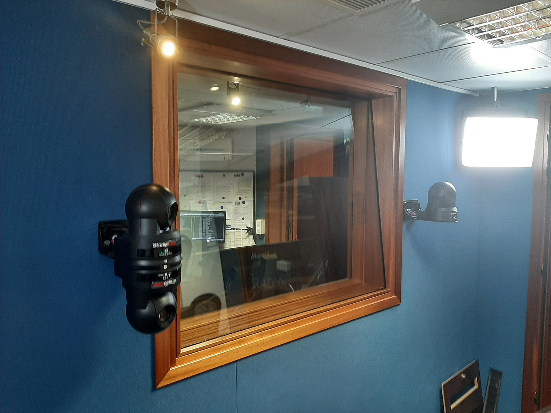 Radio Notre Dame studio with a StudioCast