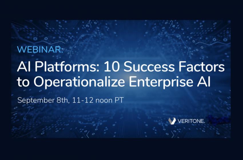 Webinar: Operationalizing Enterprise AI