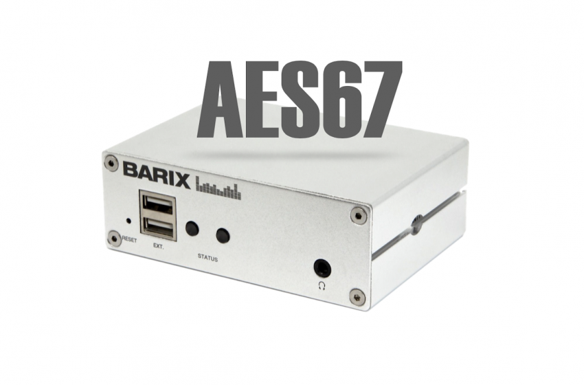 Barix to Offer AES67 Training With IP Audio Devices